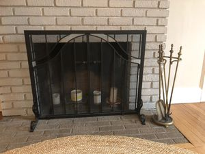 Fireplace screen and tools for Sale in South Orange, NJ