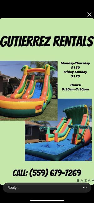 Water slides for Sale in Reedley, CA