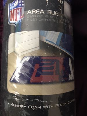 NY Giants area rug (memory foam w/ plush covering) for Sale in Bridgeport, CT