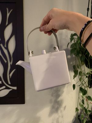 Modern White Square Tea Pot with Tea Infuser for Sale in Portland, OR