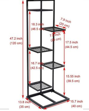 DOEWORKS Case of 5 Packs, 5 Tier Metal Plant Stand Flower Pots Stander Display Pots Holder for Indoor Outdoor Use, Black, Plant Stand for Sale in Los Angeles, CA