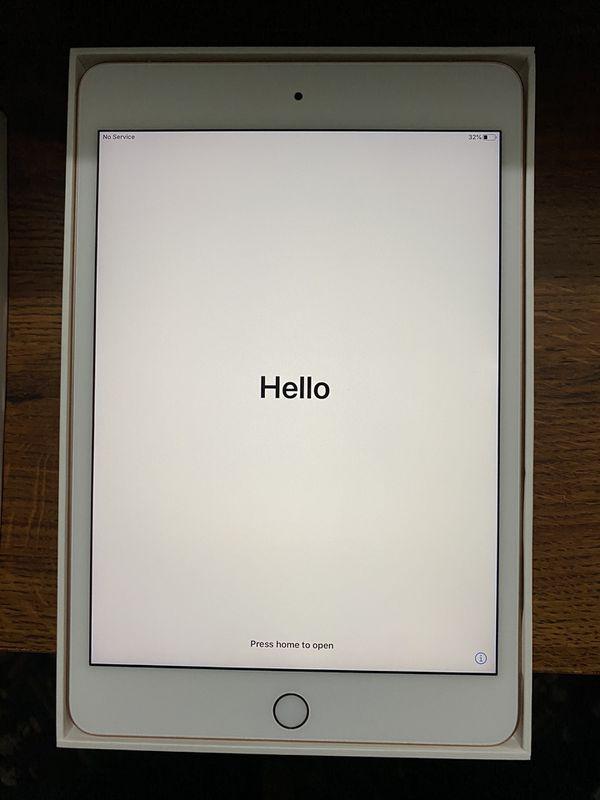 iPad mini 5 (2019) Gold 64gb Wifi+Cellular