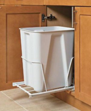 ClosetMaid 6 Gal. White Pull-Out Trash Can for Sale in Pasadena, CA