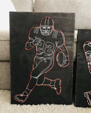 Football Rustic Wood 3D Wall Art for Sale in Anaheim, CA