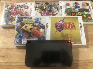 Nintendo (new) 3ds XL with 5 games for Sale in Los Angeles, CA