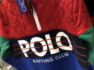 LARGE NEW POLO RAFTING CLUB HOODIE/JACKET for Sale in Duluth, GA