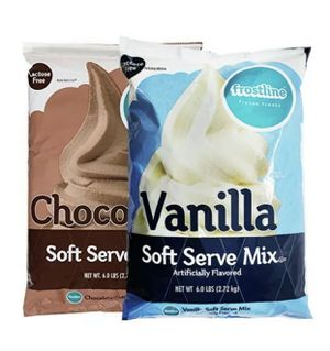 3 x Frostline Soft Serve Mix * 6 Lbs each * chocolate vanilla for Sale in Upland, CA