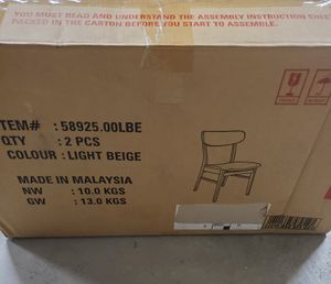2pcs dining chair light Beige for Sale in North Las Vegas, NV