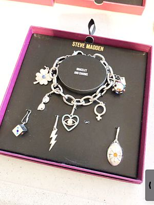 New Steve Madden charm bracelet with extra charms for Sale in Gardena, CA