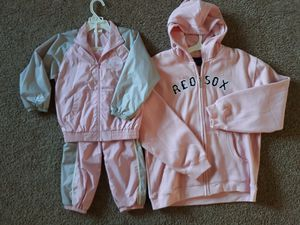 Never worn new Red Sox girls jumpsuit and hoodie for Sale in Hayward, CA