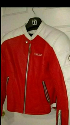 icon woman motorcycle lather jacket size L like new condition for Sale in Glendale, AZ