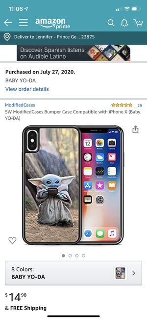 Baby yoda iphone x case for Sale in Prince George, VA