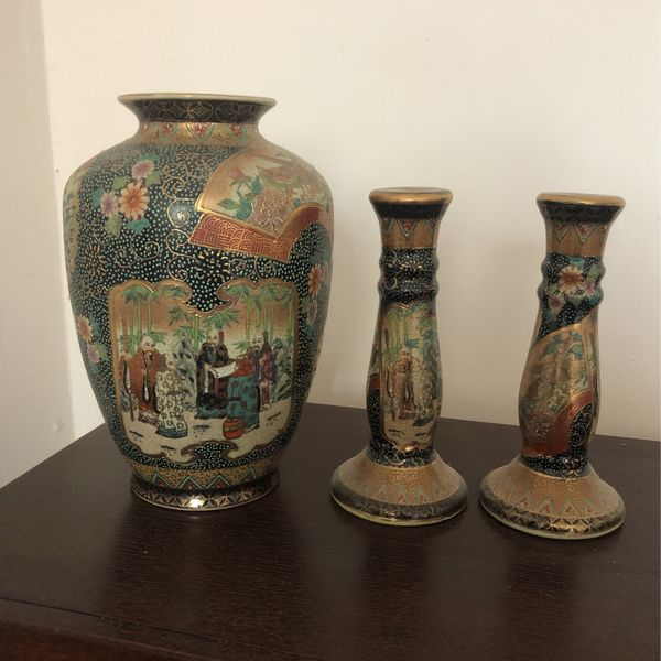 Candle Stick Holder And Vase