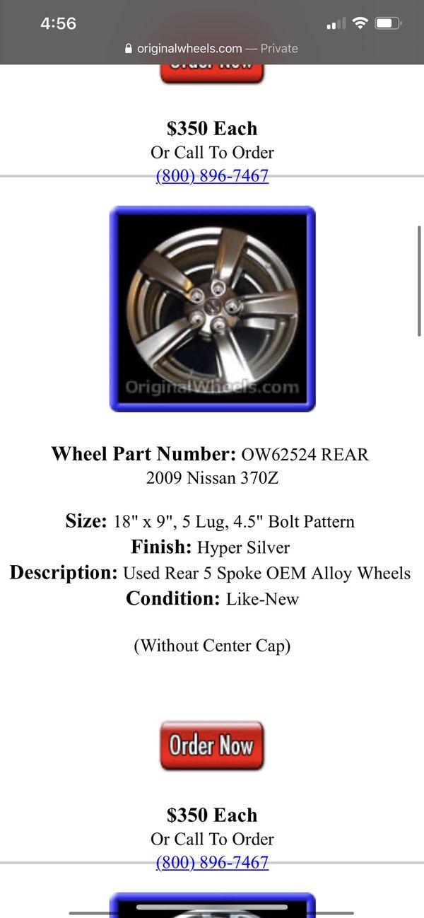 Nissan Wheels 370z 350z