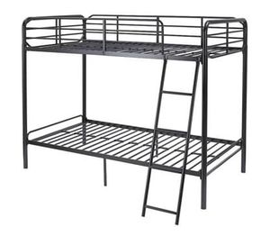 NEW - Twin over Twin Metal Bunk Bed, Black for Sale in Centreville, VA
