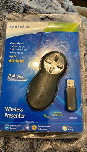 Kensington K33373US Wireless USB Presenter Remote 2.4 GHz Black for Sale in Alexandria, VA