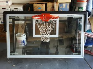 2 Jaypro glass basketball back boards & hoops with mounting brackets for Sale in Las Vegas, NV