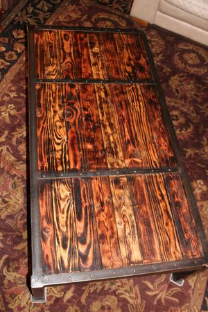 """Hand crafted rustic """"castle door"""" table for Sale in Seattle, WA"""