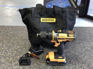 """Bostitch BTC400 18 Volt ½"""" Cordless Drill/Driver With 1 Battery, Charger & Bag 90752-7 for Sale in Tampa, FL"""