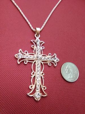 Ornate Jeweled Cross Necklace for Sale in Columbus, OH