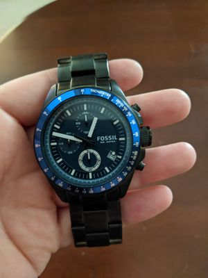 Fossil black watch brand new for Sale in Virginia Beach, VA