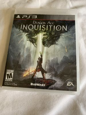 Dragon age inquisition ps3 game for Sale in Chino, CA