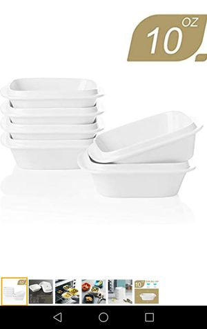 Porcelain square ramekins 10oz set of 6-new for Sale in Naperville, IL