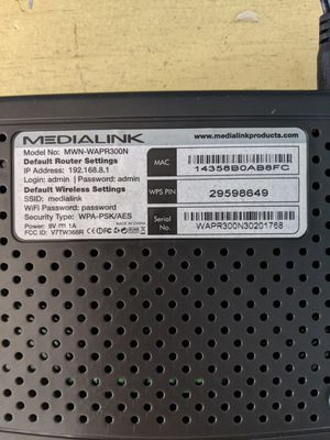 Medialink wireless & broadband router for Sale in Washington, DC
