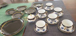 Antique tea set gilded plus dessert plates for 6 for Sale in Oceanside, CA