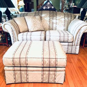 Mint Condition Couch Set: Marion/Beige w/Green and Burgundy Trim for Sale in Tampa, FL