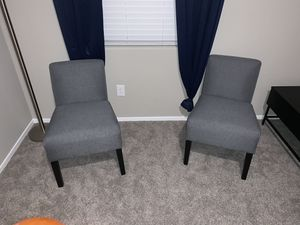 2 grey accent chairs for Sale in Las Vegas, NV