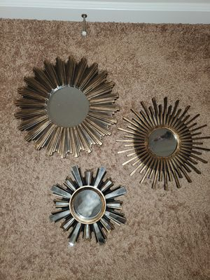 3 Piece Designed Wall Mirrors for Sale in Edgewood, WA