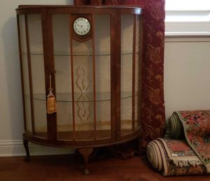 Antique curio cabinet with clock for Sale in Fresno, CA