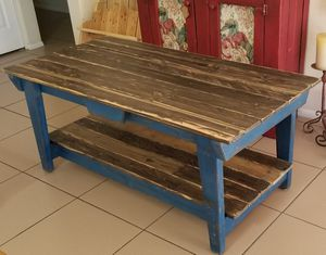 Gorgeous Solid Wood Rustic Farmhouse Coffee Table!!! for Sale in Phoenix, AZ