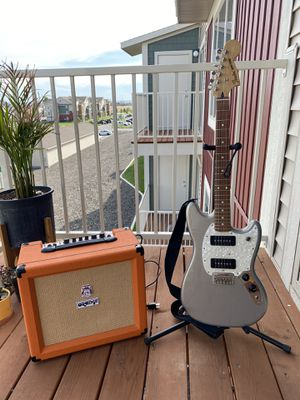Fender Mustang P90 & Orange Amp 35rt for Sale in Kennewick, WA