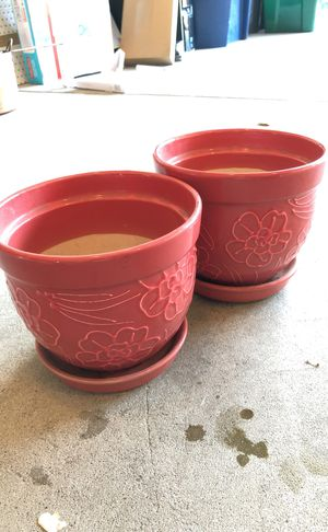 2 Flower Pots - Ceramic for Sale in Lexington, SC