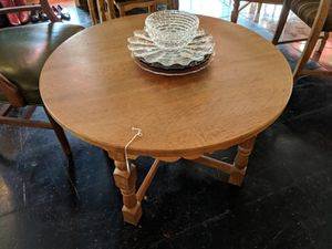 Danish Solid Oak Coffee Table Round Antique for Sale in Orlando, FL