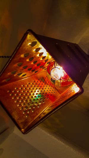 Funky Antique Cheese Grater Hanging Lamp for Sale in Oregon City, OR