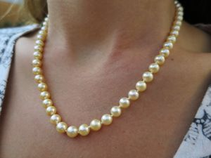 14k gold pearl necklace for Sale in Pismo Beach, CA