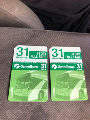 Brand new bus passes for Sale in San Bernardino, CA