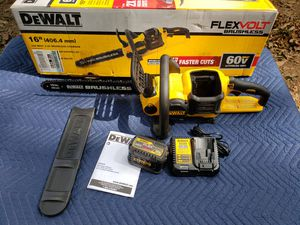 DEWALT 60-Volt MAX Lithium-Ion Cordless FLEXVOLT Brushless 16 in. Chainsaw w/ (1) 6.0Ah Battery and Charger for Sale in East Point, GA