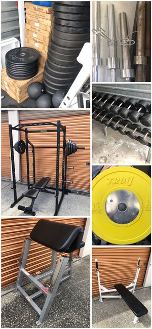 Tons Of Gym/ Fitness Workout Equipment. Weights Bench Dumbbells Squat Racks Smith Machines for Sale in Davenport, FL