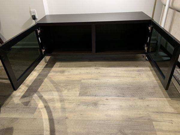 IKEA Storage and TV Stand w/Glass Doors