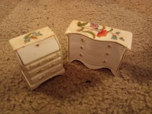 Bone china vintage dollhouse furniture for Sale in Uniontown, OH