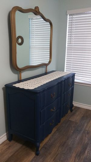 Refurbished beautiful French Dresser with mirror for Sale in Corpus Christi, TX