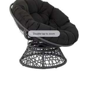 OSP Designs by Office Star Products Papasan Chair with Black Cushion and Black Frame for Sale in Orange, CA
