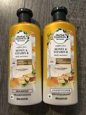 Herbal essences bio renew daily moisture shampoo and conditioner set for Sale in San Bernardino, CA