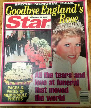 STAR 09/23/97- GOODBYE ENGLAND's ROSE, All the TEARS and LOVE at The Funeral that moved the WORLD, Pages & pages of Memorable Pics for Sale in San Diego, CA
