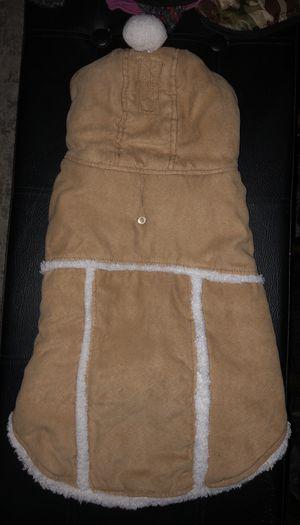 Faux Suede and White Fleece Dog Apparel Sweatshirt for Sale in Prairieville, LA
