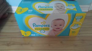 Diapers. Pampers swaddles size 3. 168 count for Sale in Daytona Beach, FL